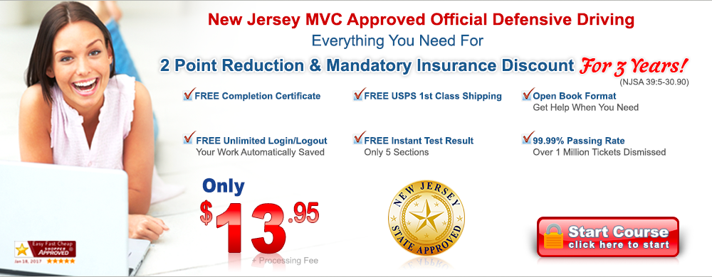 New Jersey approved traffic school online